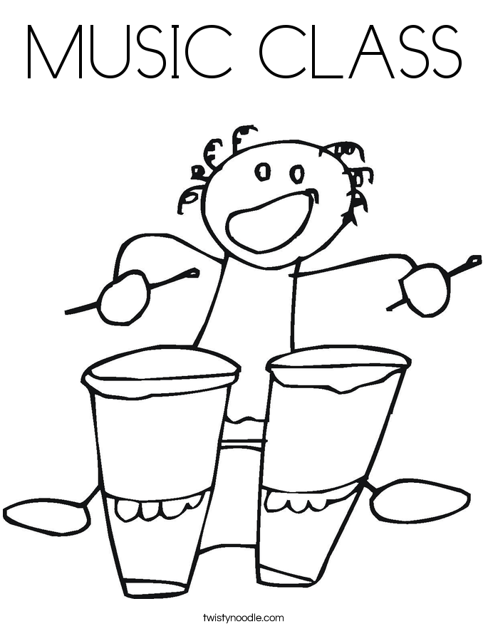 MUSIC CLASS Coloring Page Twisty