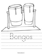 Bongos Handwriting Sheet