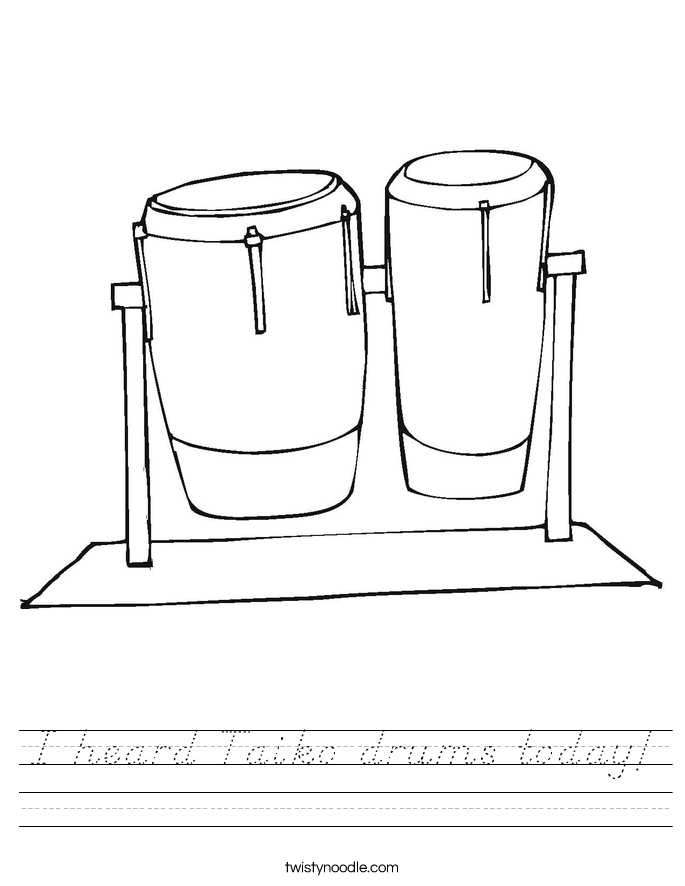I heard Taiko drums today! Worksheet