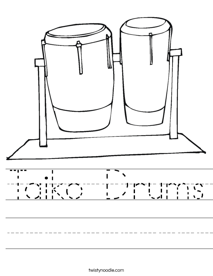 Taiko Drums Worksheet