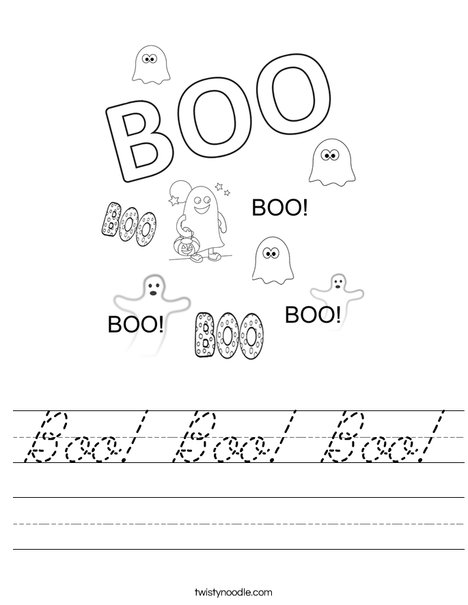 Boo Worksheet