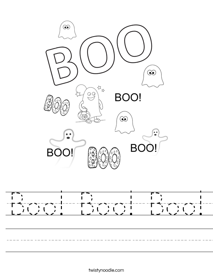Boo! Boo! Boo! Worksheet