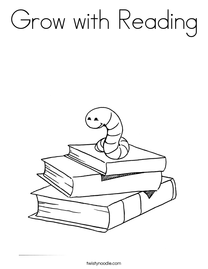 Grow with Reading Coloring Page