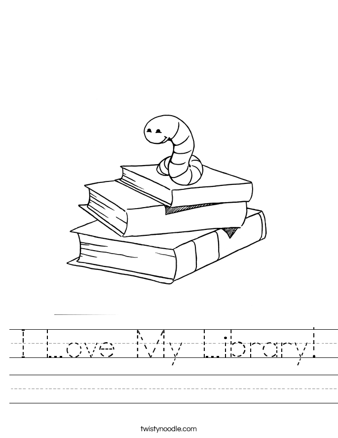 I Love My Library! Worksheet