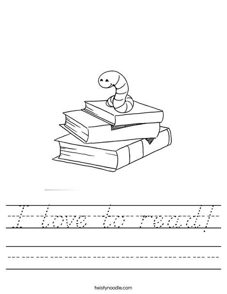 Book Worm Worksheet