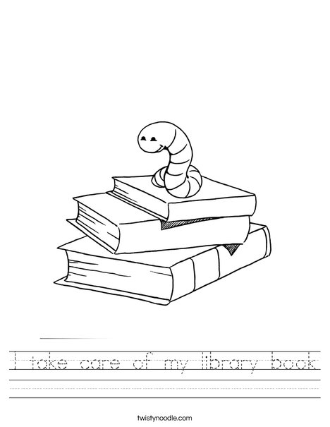graphic regarding Work Sheet Library identify I consider treatment of my library reserve Worksheet - Twisty Noodle