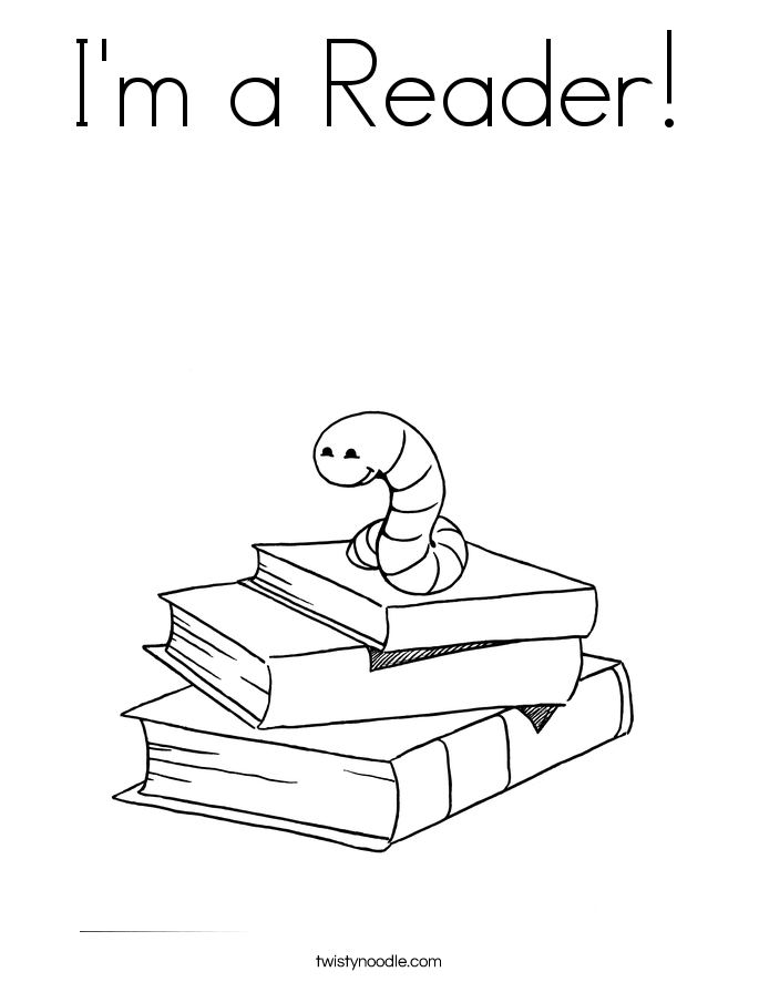 I'm a Reader! Coloring Page
