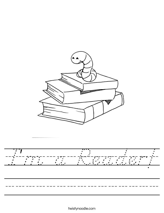 I'm a Reader! Worksheet