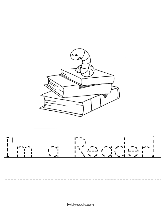 I'm a Reader! Worksheet