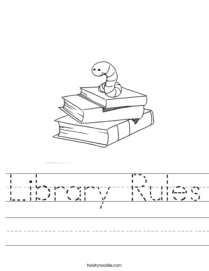 Library Rules Worksheet