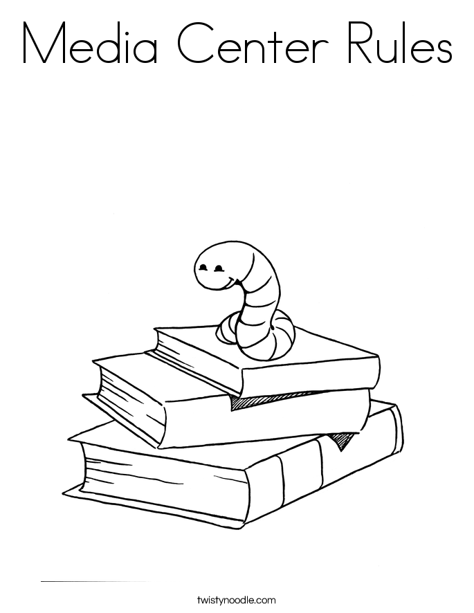 Media Center Rules Coloring Page