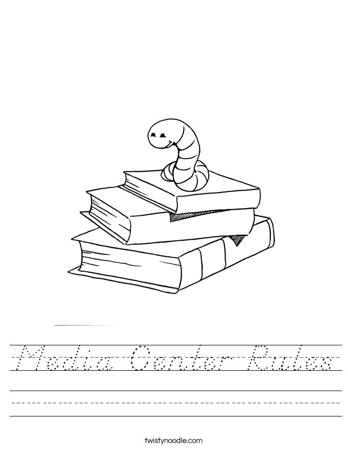 Media Center Rules Worksheet