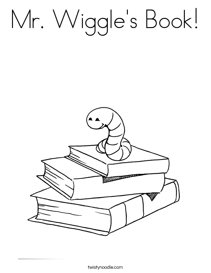 Mr Wiggles Book Coloring Page