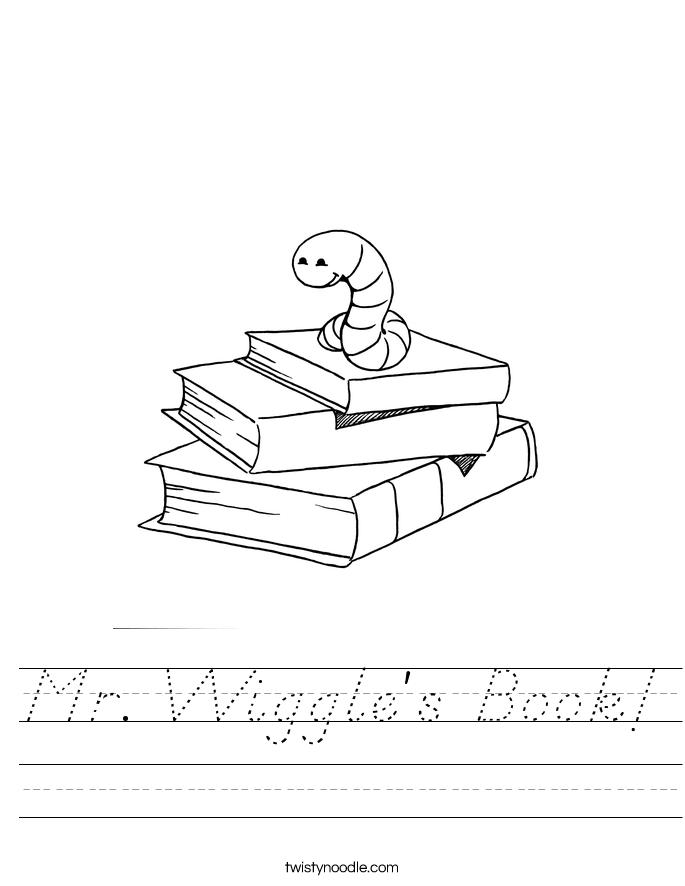 Mr. Wiggle's Book! Worksheet