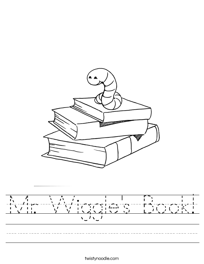 Mr. Wiggle's Book! Worksheet