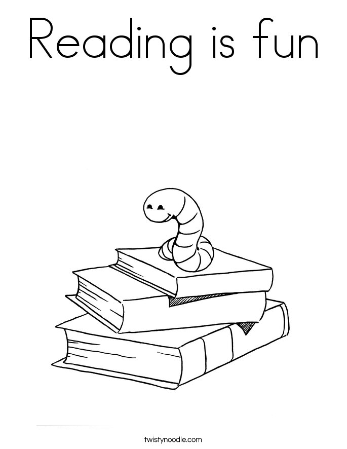 reading is fun coloring page twisty noodle rh twistynoodle com girl reading book coloring page turkey reading a book coloring page