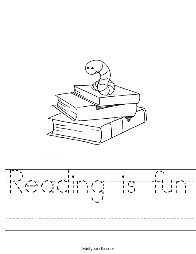 Reading is fun Worksheet