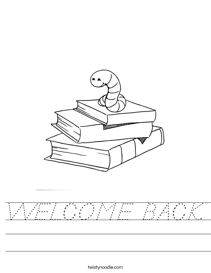 WELCOME BACK Worksheet