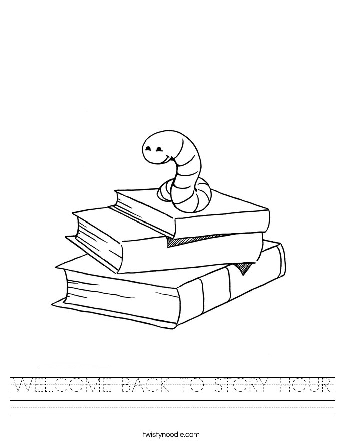 WELCOME BACK TO STORY HOUR Worksheet