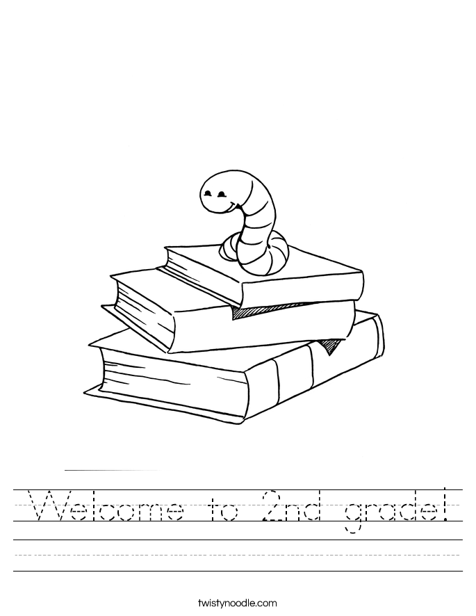 welcome to second grade coloring pages - welcome to 2nd grade worksheet twisty noodle