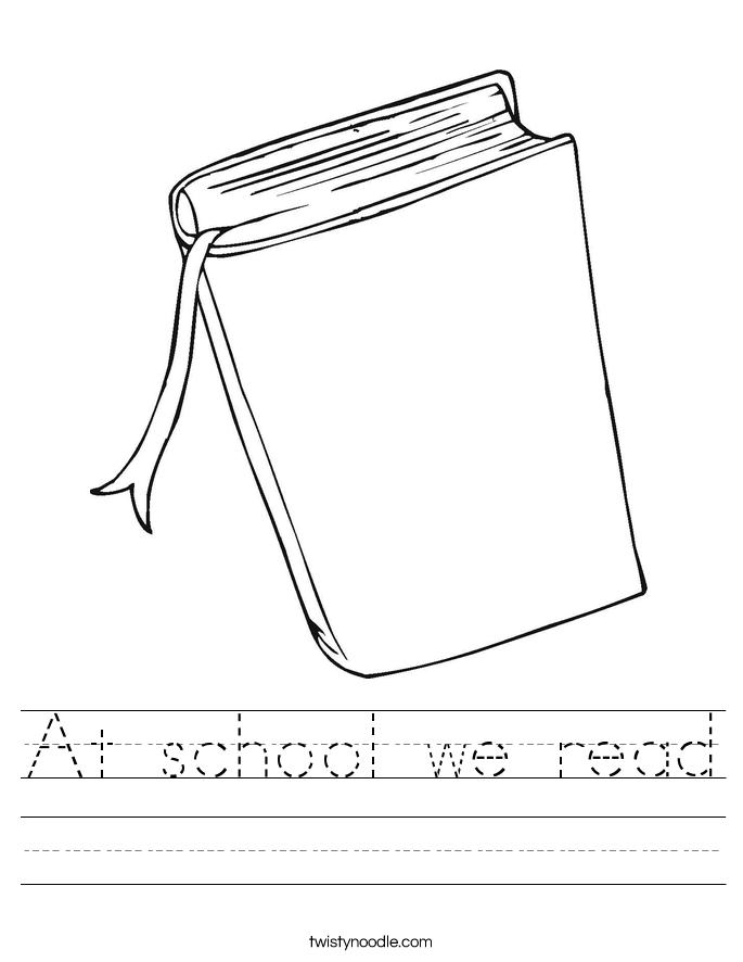 At school we read Worksheet