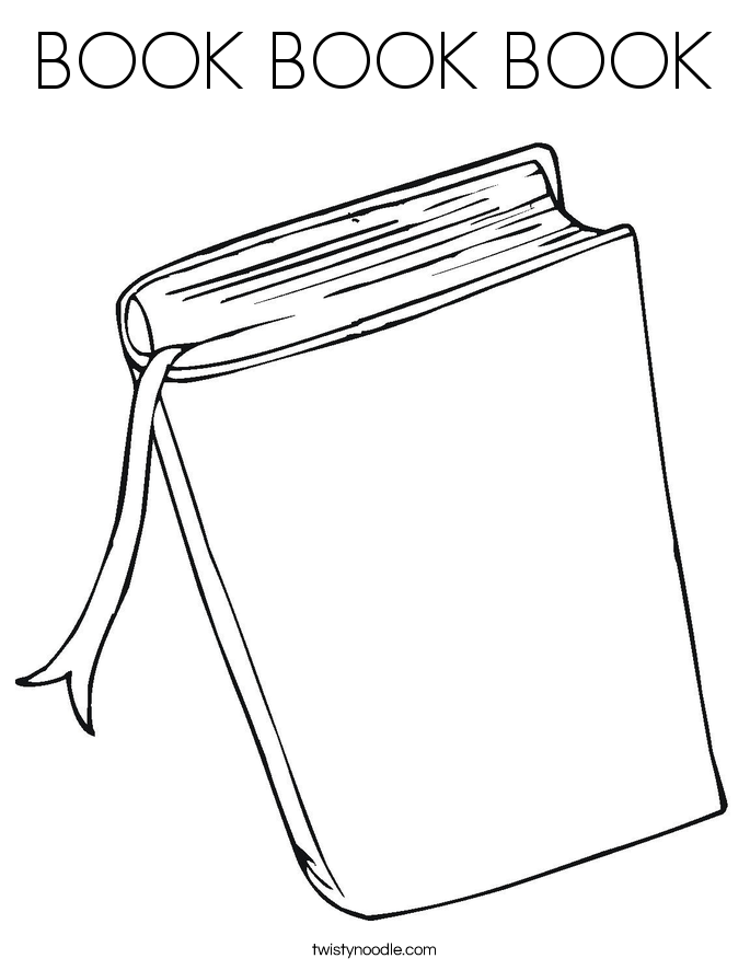 Book Book Book Coloring Page Twisty Noodle Coloring Page Book
