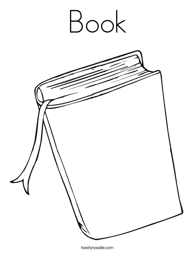 book coloring page - Book Coloring Pages