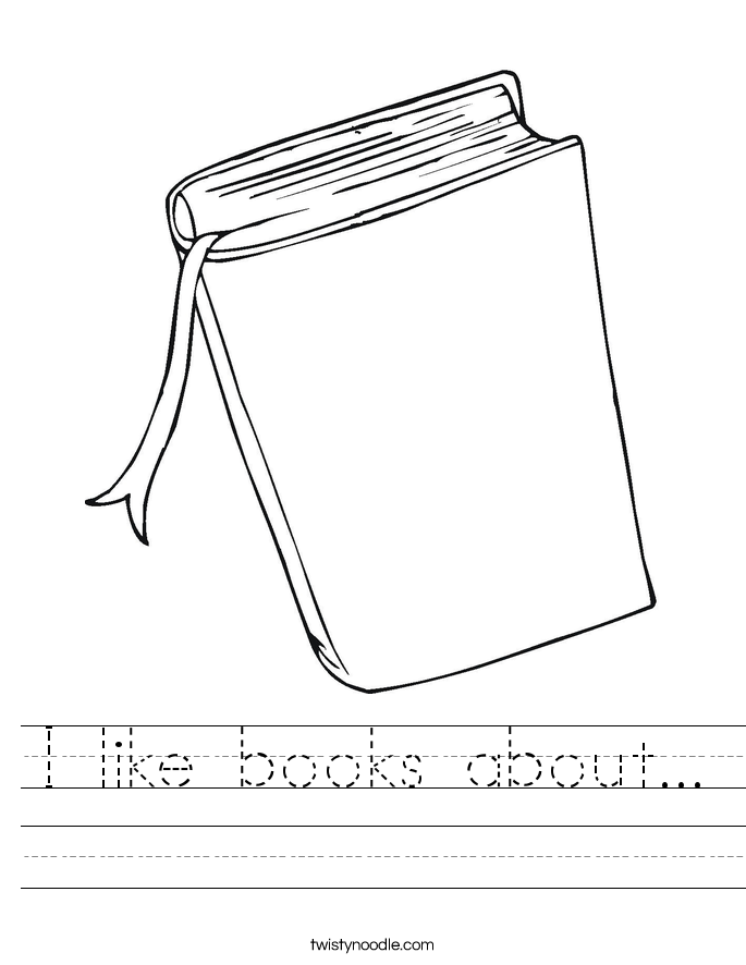 I like books about... Worksheet