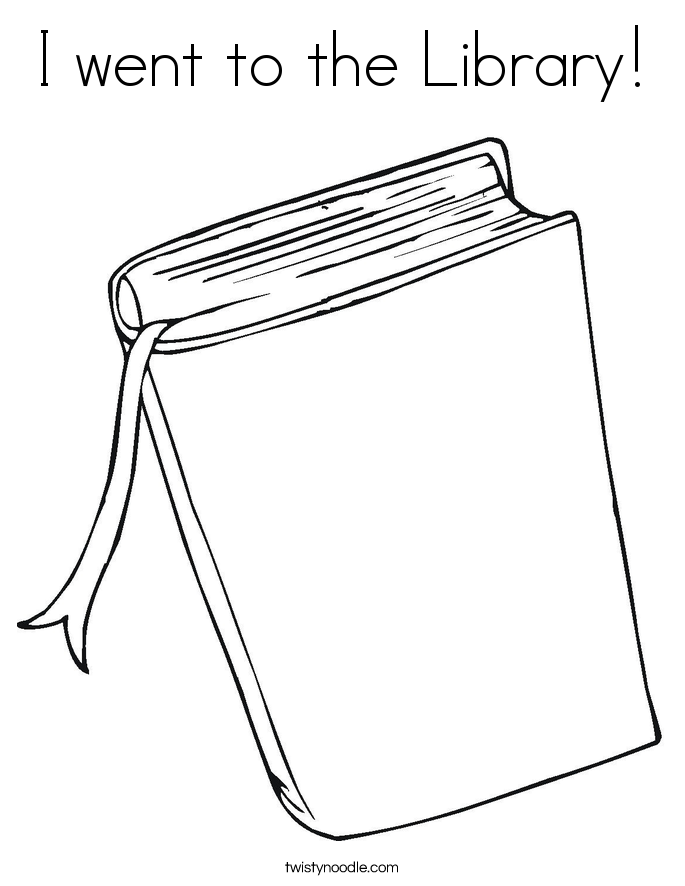 I went to the Library! Coloring Page