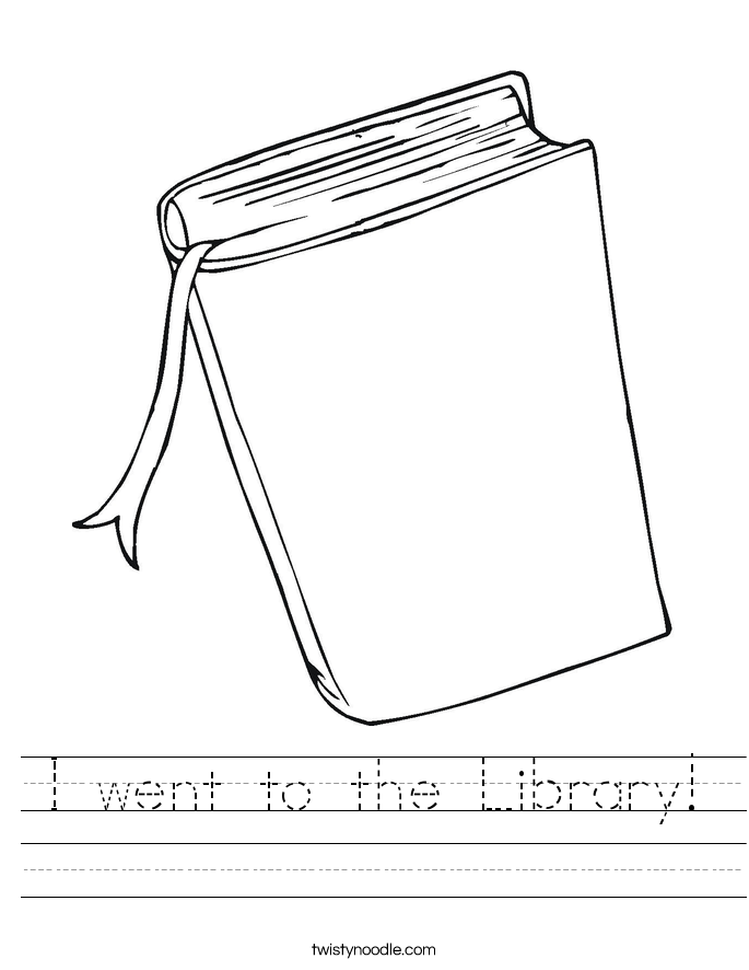 I went to the Library! Worksheet