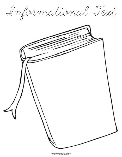 text coloring pages - photo#40