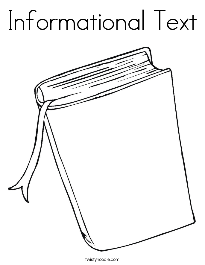 Informational Text Coloring Page