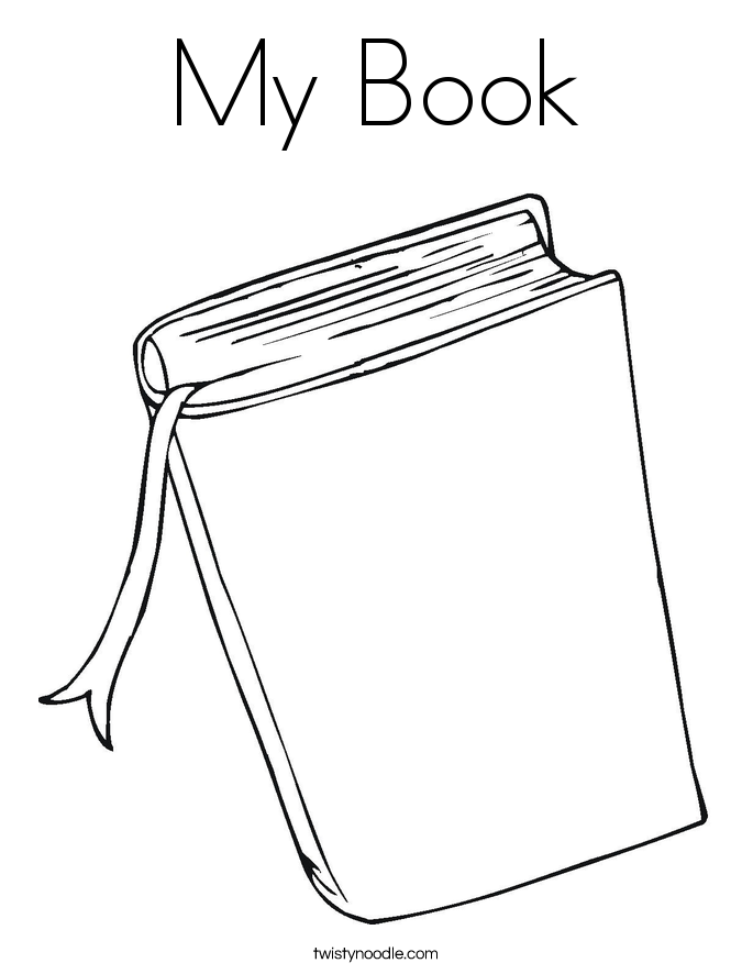 My Book Coloring Page