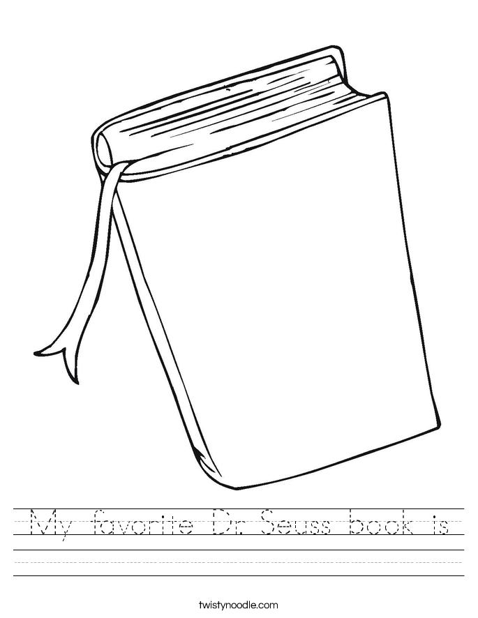 My favorite Dr. Seuss book is Worksheet
