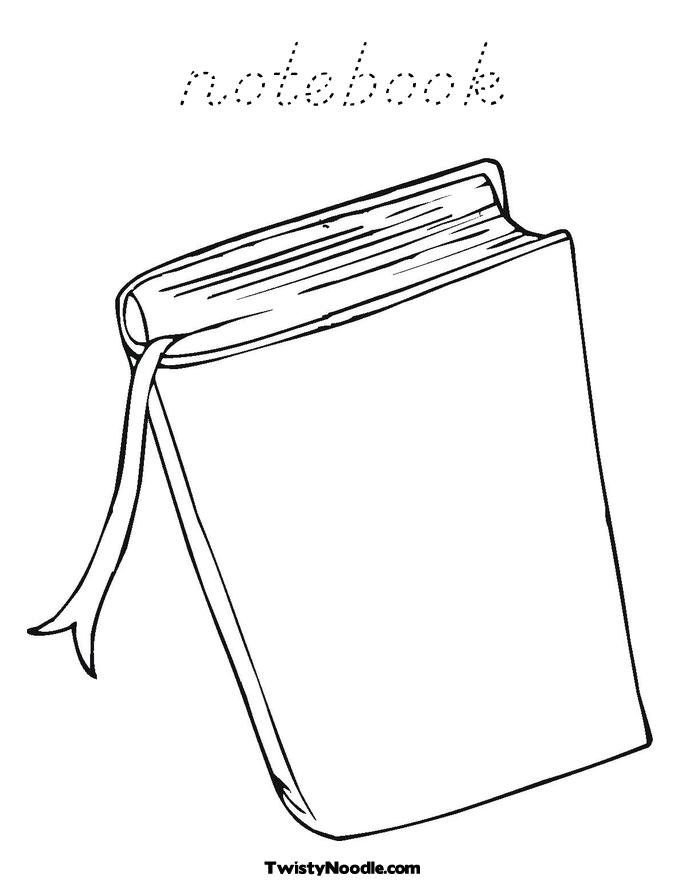 the notebook coloring pages - photo#41