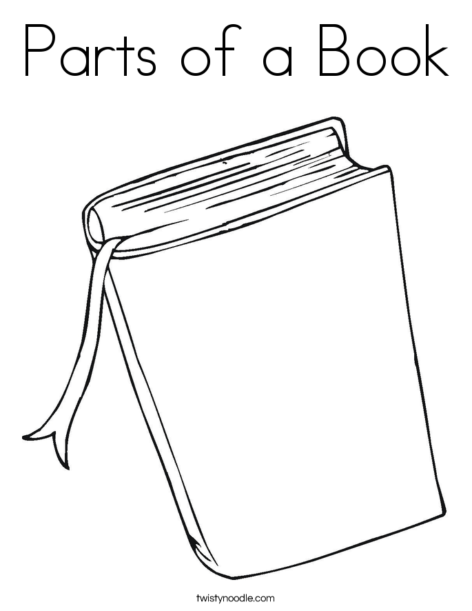 Parts of a Book Coloring Page