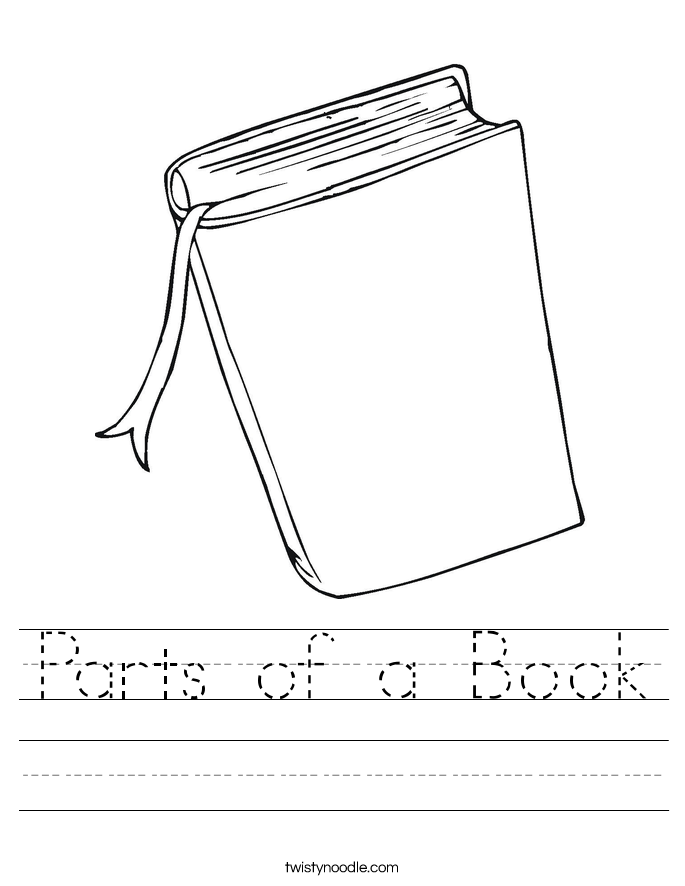 {Of A Book Worksheet Kindergarten Versaldobip – Parts of a Book Worksheet Kindergarten