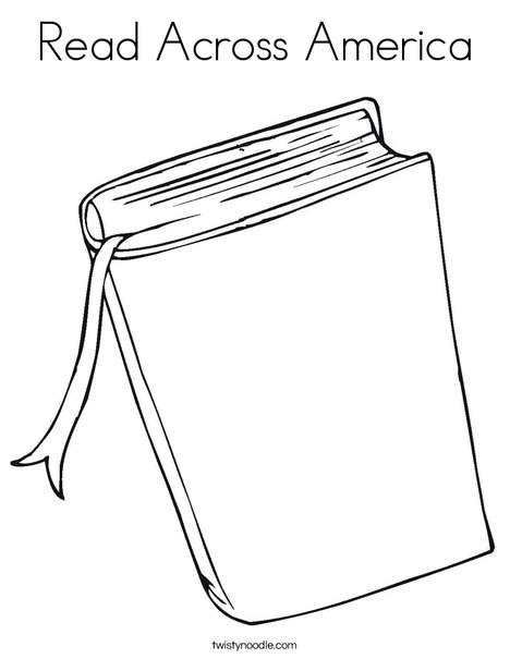 Book Coloring Page