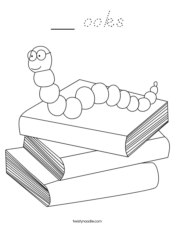 __ ooks Coloring Page