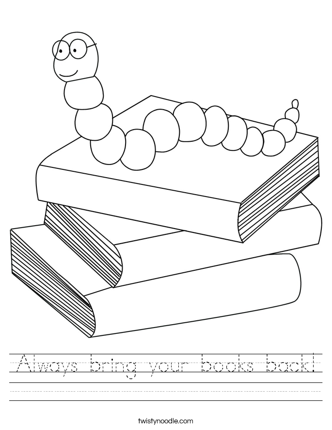 Always bring your books back! Worksheet