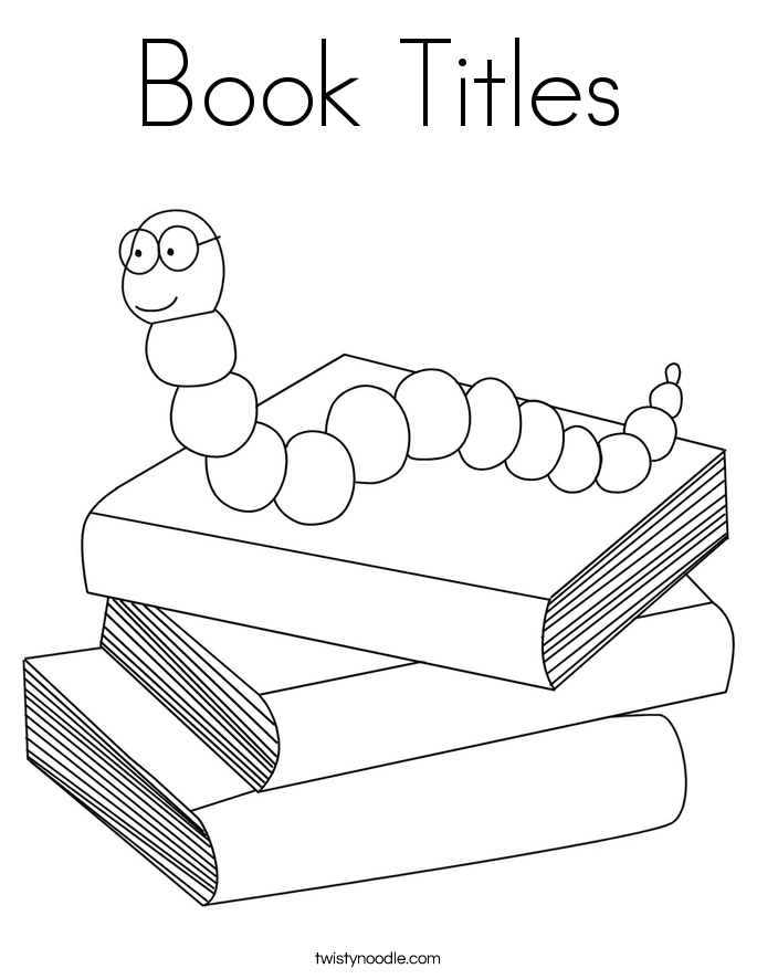 Book Titles Coloring Page