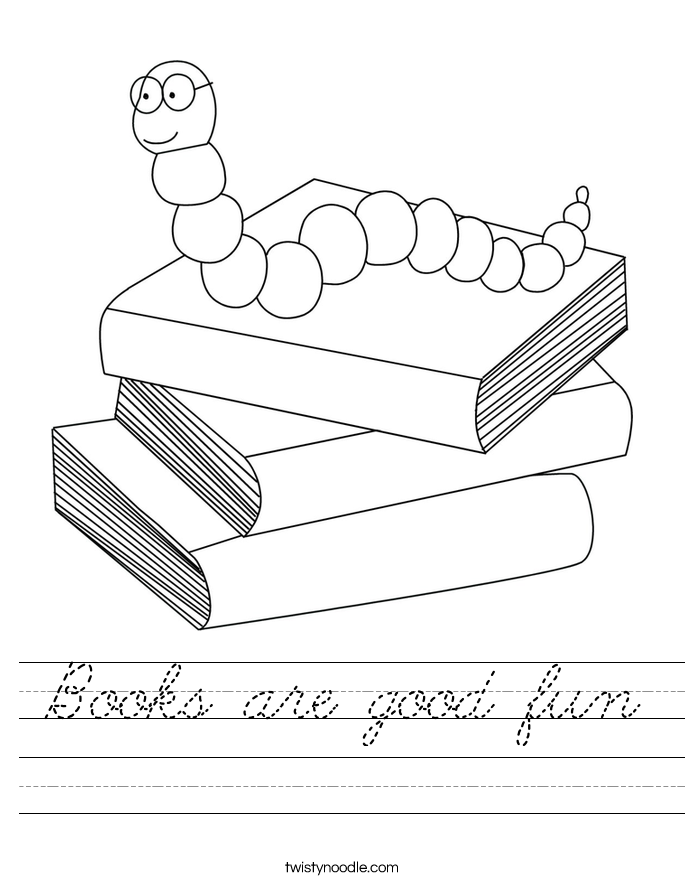 Books are good fun Worksheet