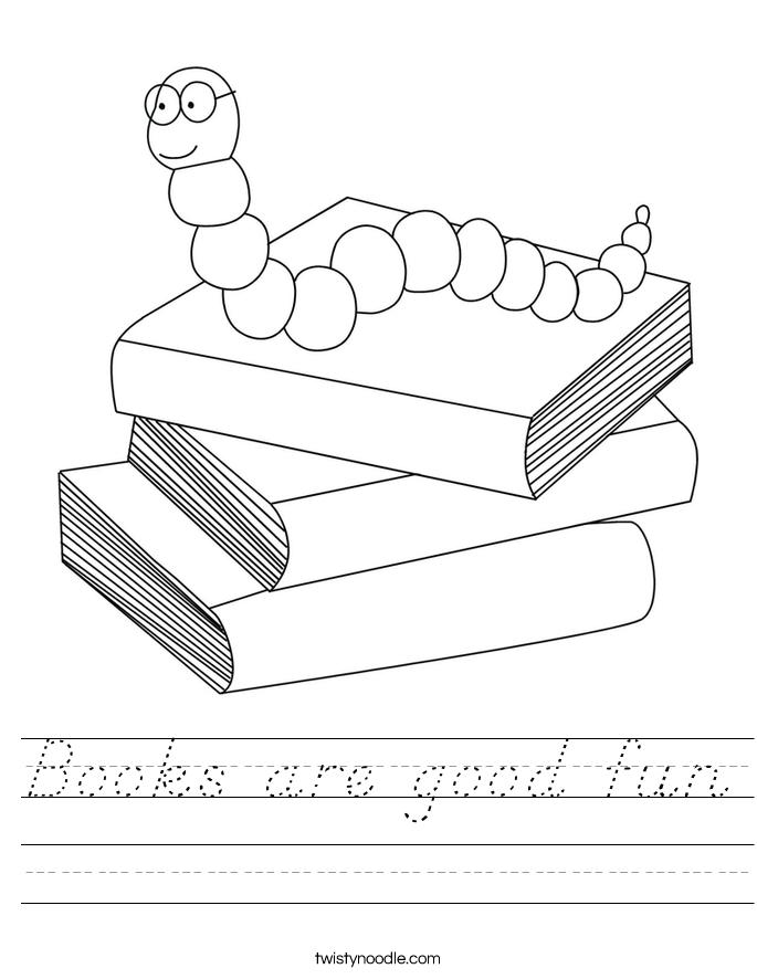 Books are good fun Worksheet