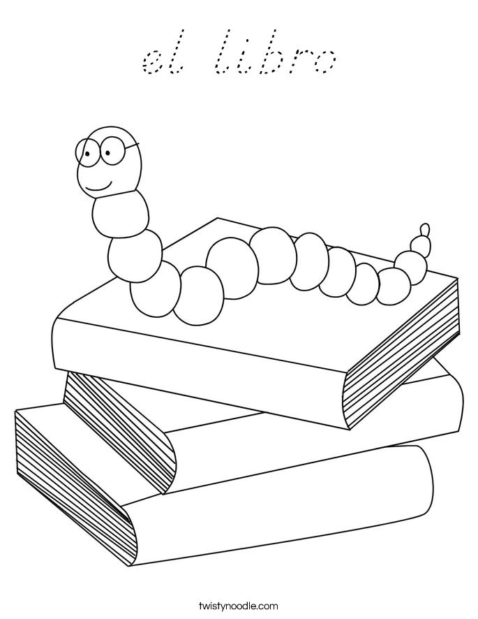 el libro Coloring Page