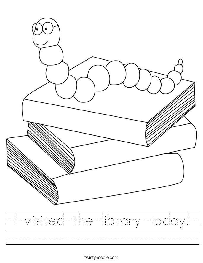 I visited the library today! Worksheet
