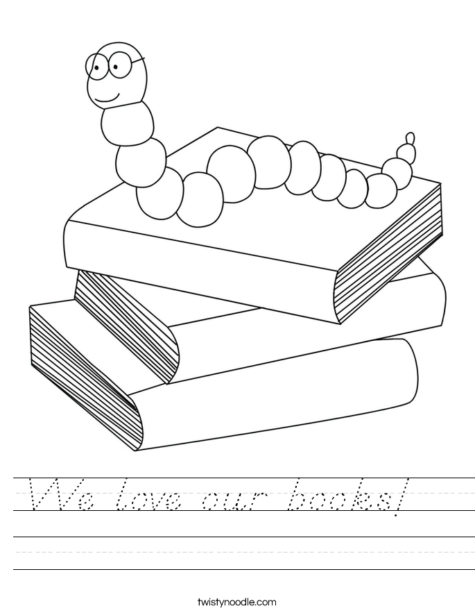 We love our books!   Worksheet