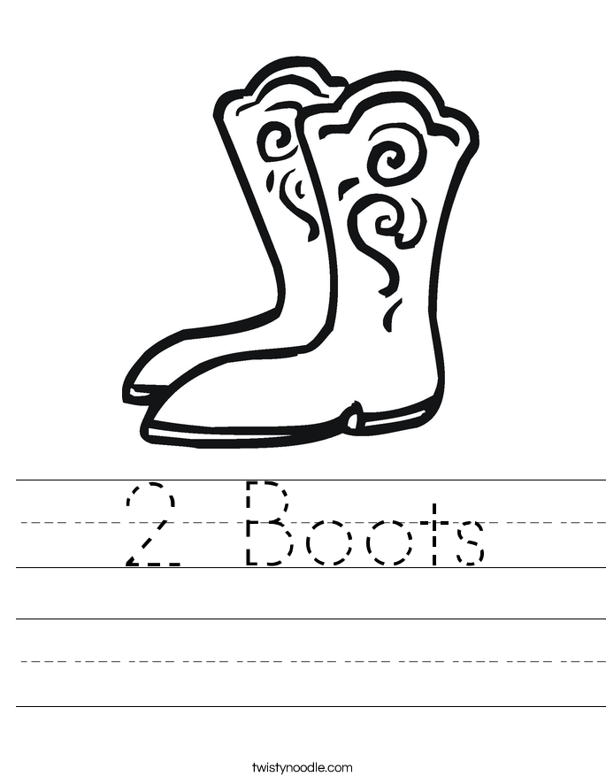 2 Boots Worksheet