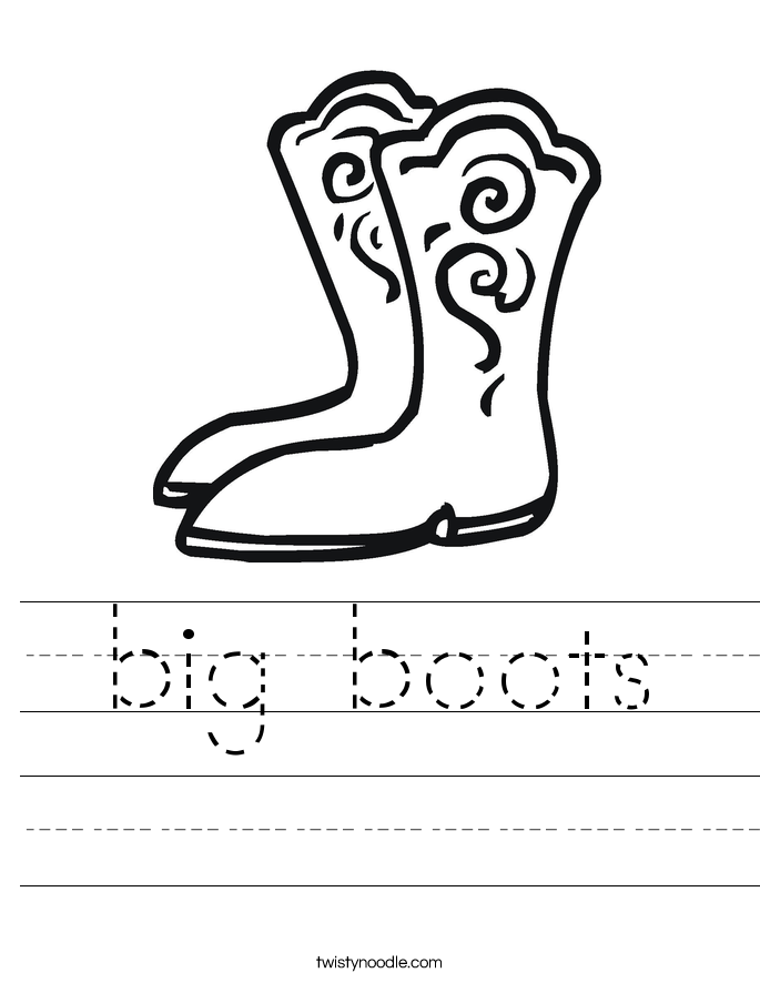 big boots Worksheet