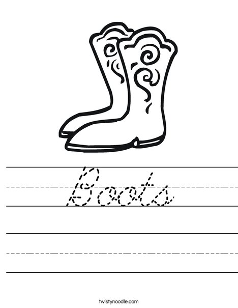 Boots Worksheet