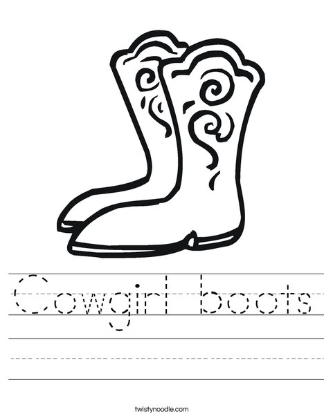 Boots Worksheet